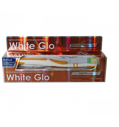 White Glo pasta do zebow anti-plaque 150g